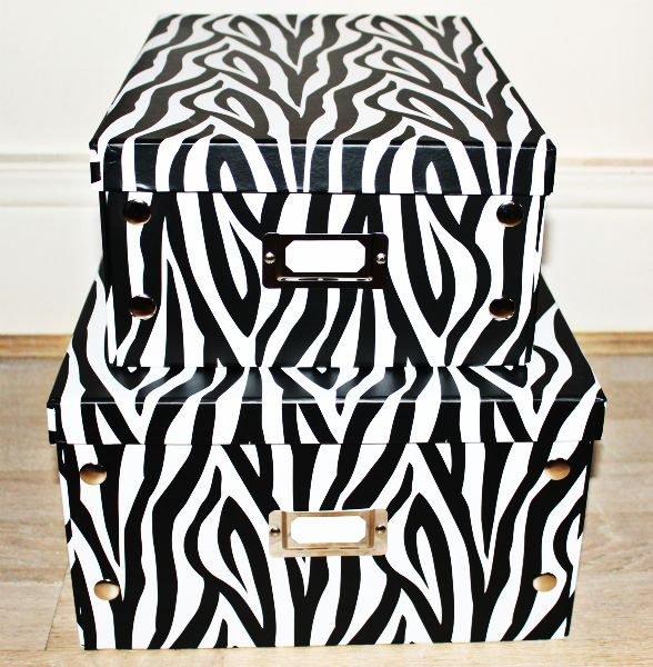 Merveilleux Storage | Funky Zebra Print Boxes